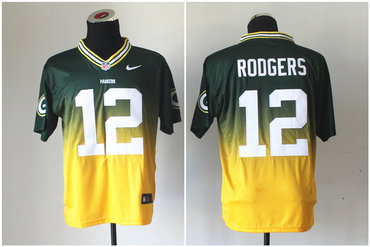 2013 NFL Nlike green bay packers #12 aaron rodgers Drift Fashion II Elite Jerseys
