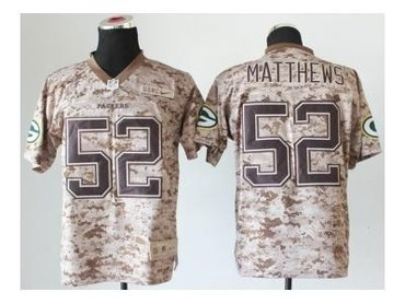 NEW jerseys green bay packers #52 clay matthews camo(2013 new Elite)(USMC)