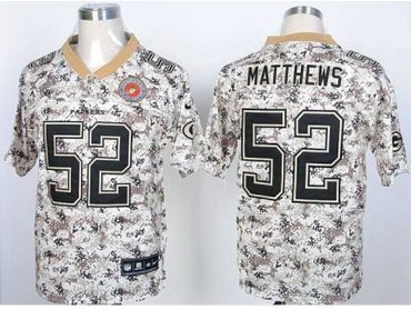 NEW jerseys green bay packers #52 clay matthews camo(2013 new Elite)